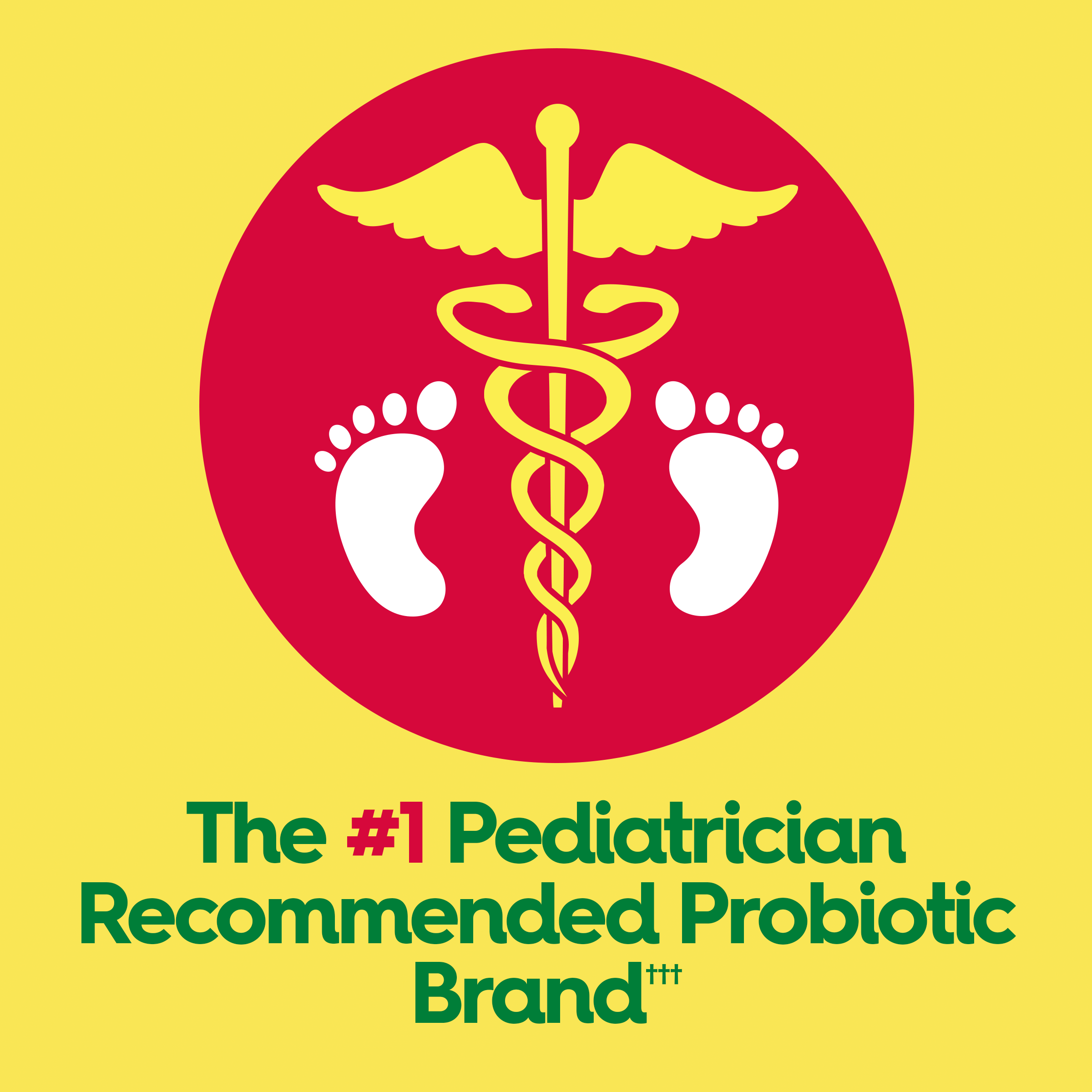 The #1 Pediatrician Recommended Probiotic Brand*