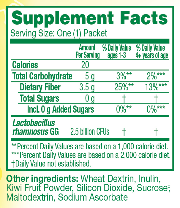 Supplement Facts for Culturelle® Kids Regularity