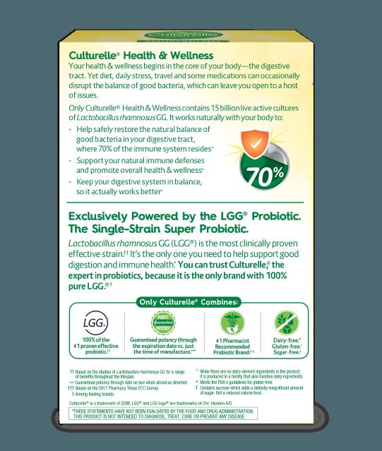 Back of Culturelle® Vegetarian Health and Wellness Box
