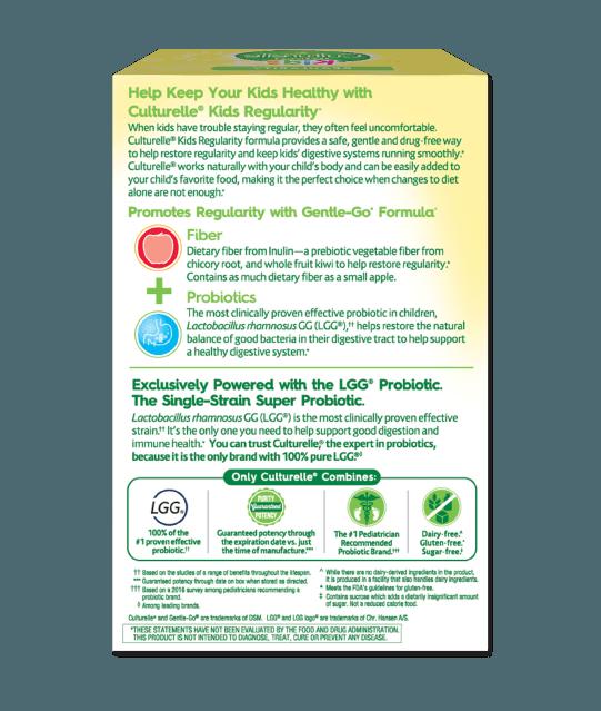 Back of Culturelle® Kids Regularity Box