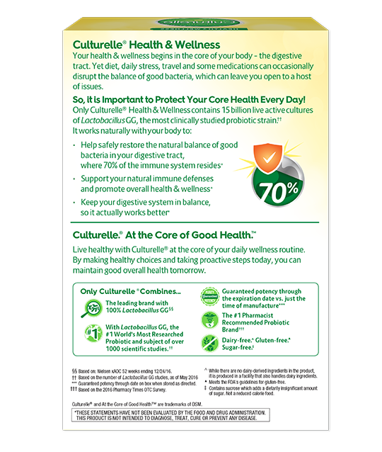 Back of Culturelle® Vegetarian Health and Wellness Box