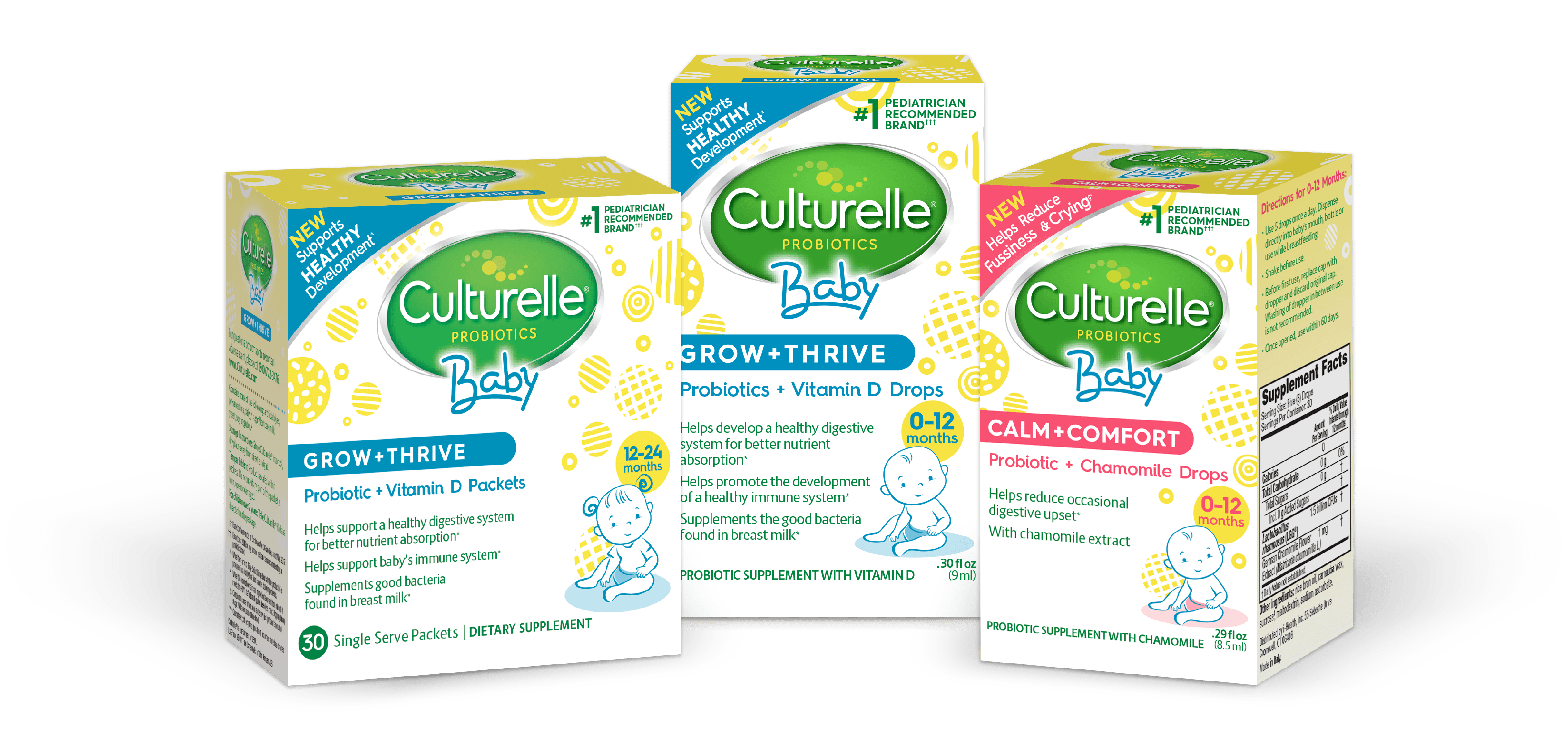 Baby probiotic product boxes