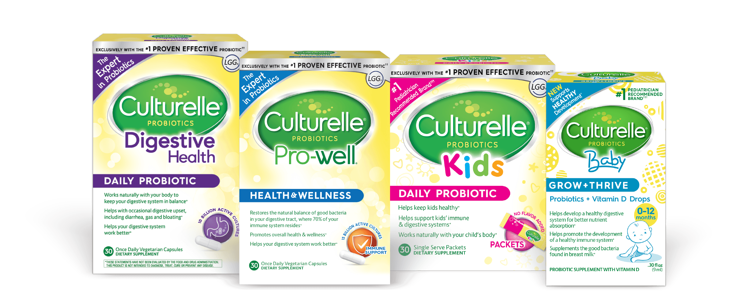 Culturelle® probiotics boxes