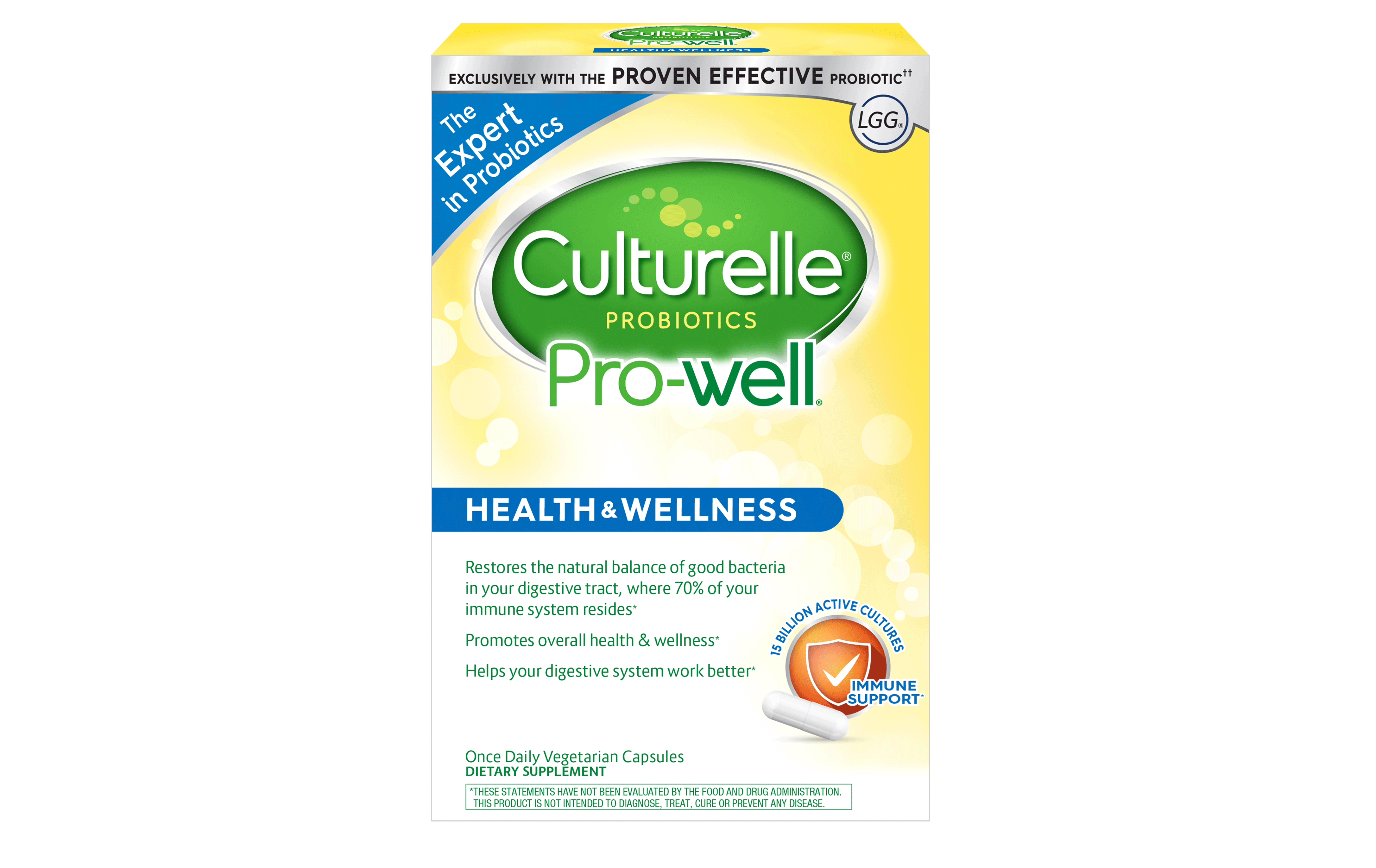 Culturelle® Probiotics Pro-Well® Health & Wellness Supplement