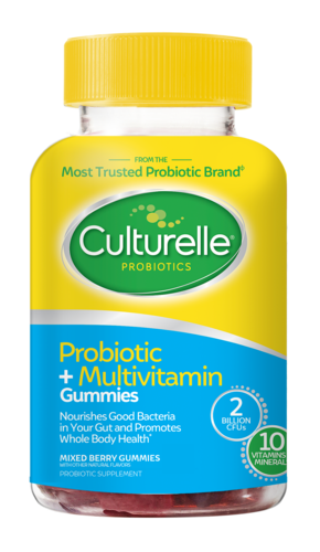 Culturelle<sup>®</sup> Probiotic + Multivitamin Gummies front of bottle