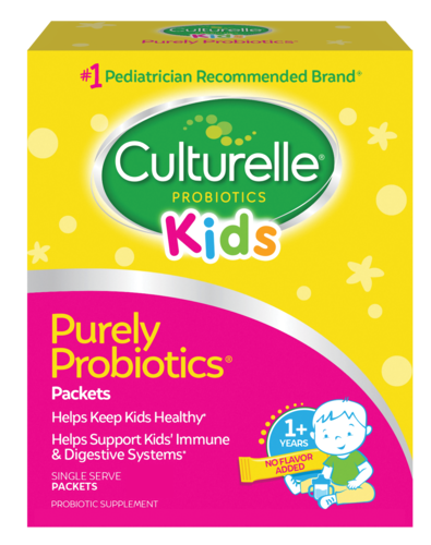 Daily propbiotic packets for kids.