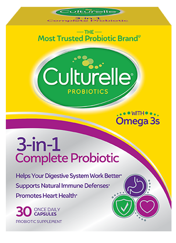 Front of Culturelle® 3-in-1 Complete Probiotic Package