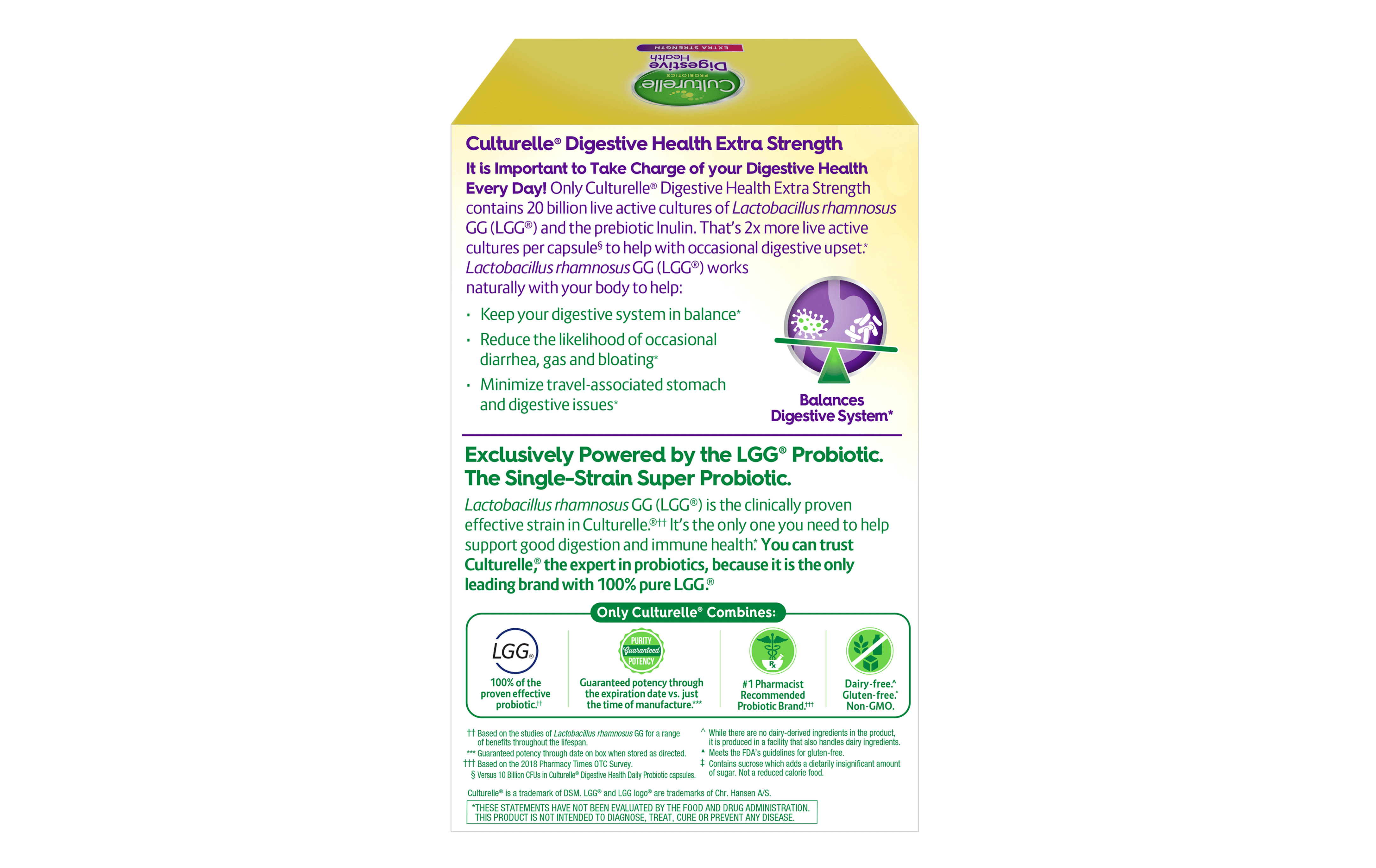 Benefits Of Probiotics Digestive Health Extra Strength Culturelle