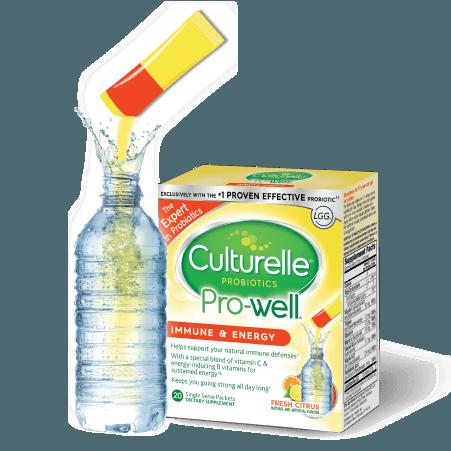 Water Bottle & Culturelle® powder