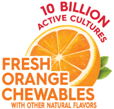 Fresh orange chewables